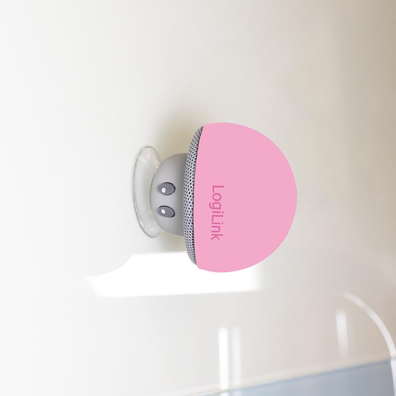 "LogiLink Bluetooth Mini-Lautsprecher /""Mushroom/"" pink"