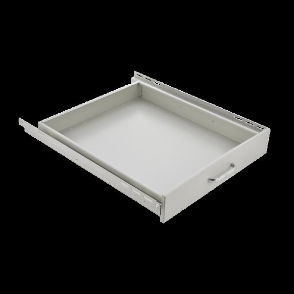 "19"" drawer d=500 mm, light grey"
