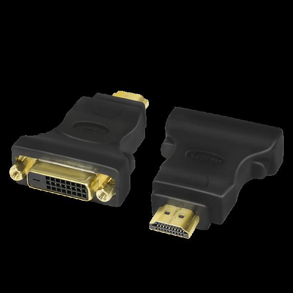 HDMI Adapter, A-Stecker auf DVI-D (24+1) Buchse, 1080p