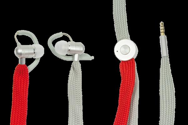 Headset mit Freisprechfunktion, UniqueLace, grau/rot