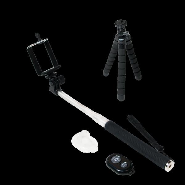 Bluetooth Selfie Monopod mit Tripod und Fernauslöser