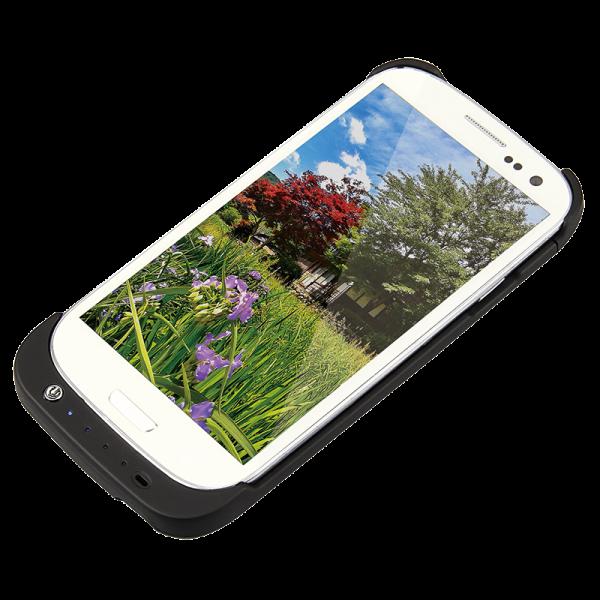 Schutzhülle für Samsung Galaxy S3 mit integriertem 3200 mAh Akku