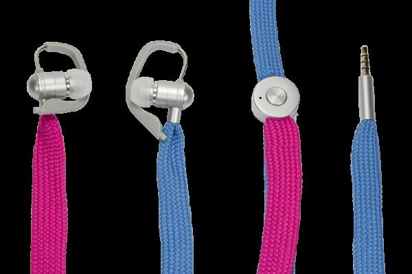 Headset mit Freisprechfunktion, UniqueLace, blau/rot