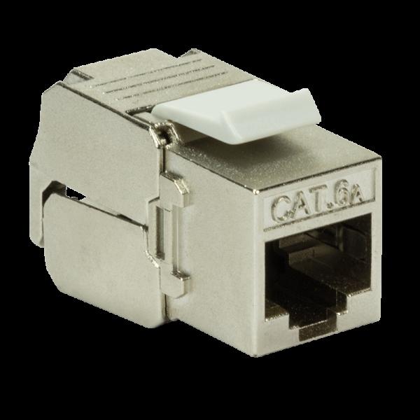Cat.6A Keystone Buchse STP AWG23-26, 16mm, EC geprüft