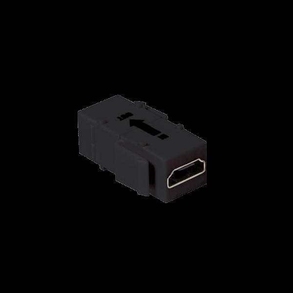 Keystone Verbinder HDMI mit Verstärker, schwarz,16,5mm breit