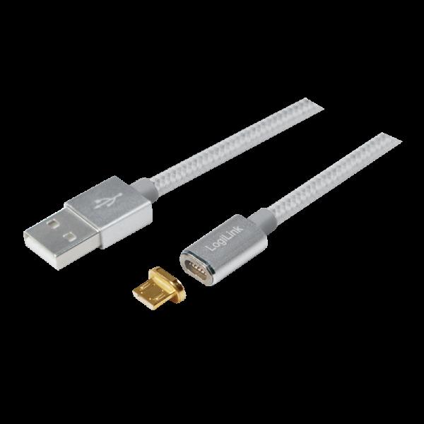 USB Daten- und Ladekabel mit magnetischem Micro USB Adapter
