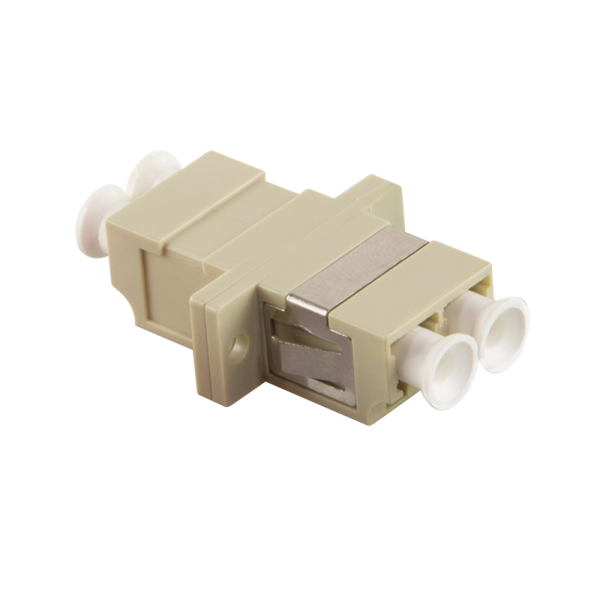 Glasfaser LC/LC Duplex Kupplung mit Flansch, beige