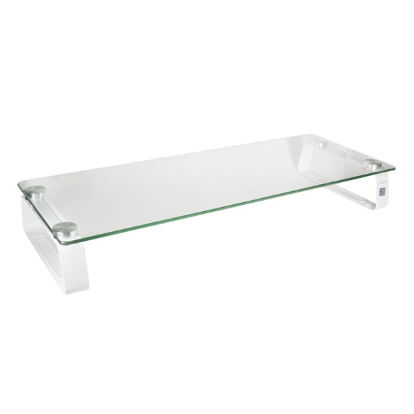 Monitorerhöhung /-tisch aus Glas, max. 20 kg Belastung