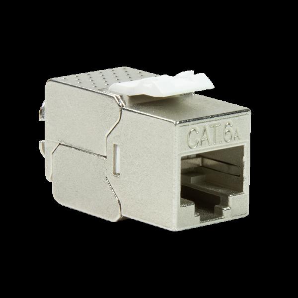 Cat.6A Keystone Buchse STP AWG22-26, 14,8mm, GHMT geprüft