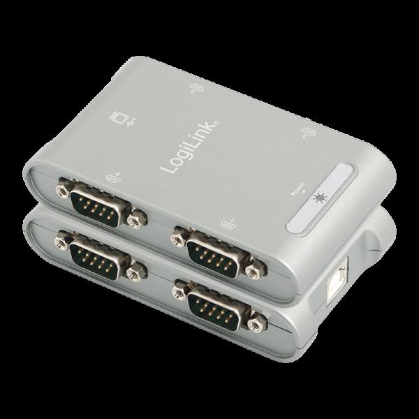 USB 2.0 auf 4x Seriell Adapter