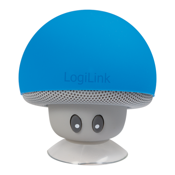 """Mobiler Bluetooth Lautsprecher, """"Mushroom""""-Design, blau"""