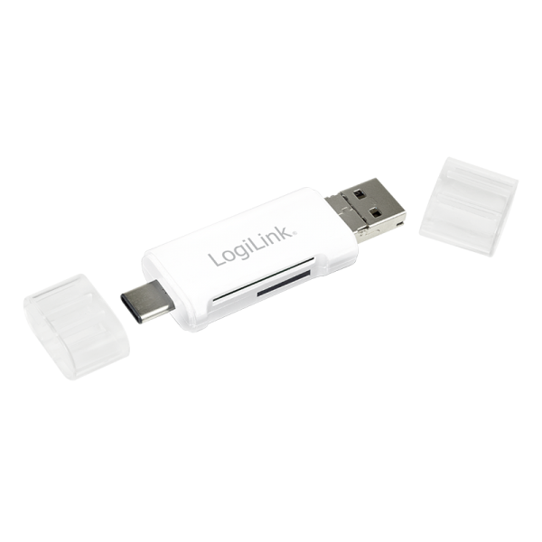 USB 2.0 Kartenleser, 3-in-1, USB-C auf Micro-B oder USB-A