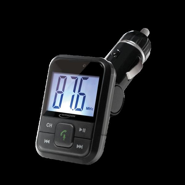 FM-Transmitter mit Bluetooth, USB, Aux-In und microSD Leser