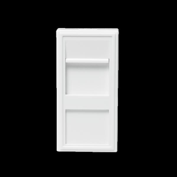 Modularer Einsatz für 1 Keystone Modul, 22,5 x 45 mm, weiß