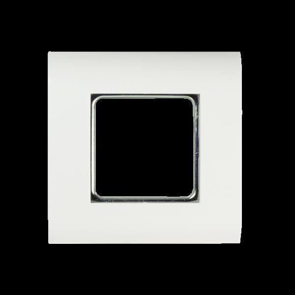 Unterputzrahmen 80 x 80 mm mit Ausschnitt 45 x 45 mm, reinwe