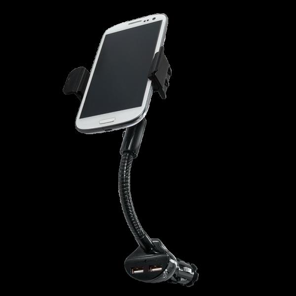 Smartphone Kfz-Halterung mit 2 USB Ladeanschlüssen, 15,5W