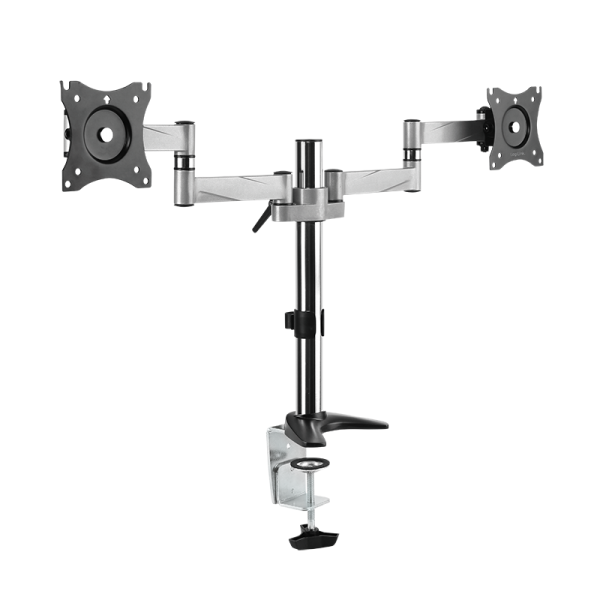 "2-fach Monitorhalterung, 13–27"", Aluminium, Armlänge: 342 mm"