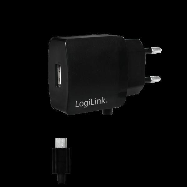 USB Steckdosenadapter mit Micro USB-Kabel, 1x USB-Port, 10W