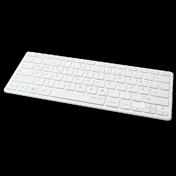 Bluetooth Funk Slim Tastatur, weiß