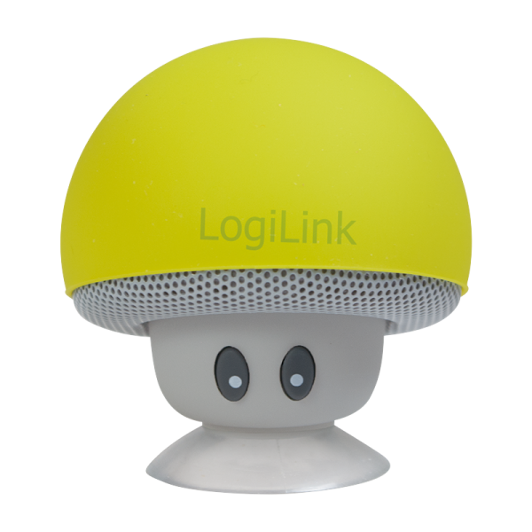 "Mobiler Bluetooth Lautsprecher, ""Mushroom""-Design, gelb"