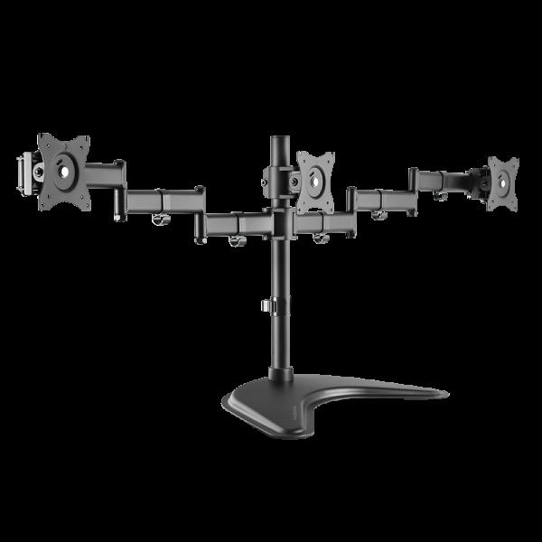 "3-fach Monitorständer, 13–27"", Stahl, Armlänge: je 746 mm"
