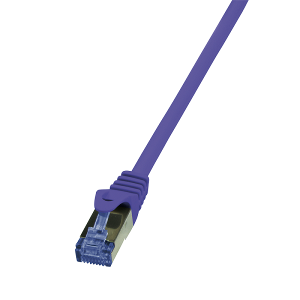 Patchkabel Cat.6A 10G S/FTP, PIMF, PrimeLine, violett, 1m