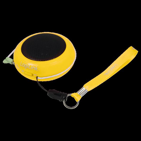Portabler Aktivlautsprecher mit Akku gelb