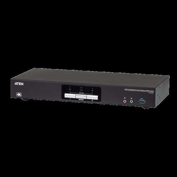 2-Port USB 3.0 4K DisplayPort Dual Display KVMP Switch