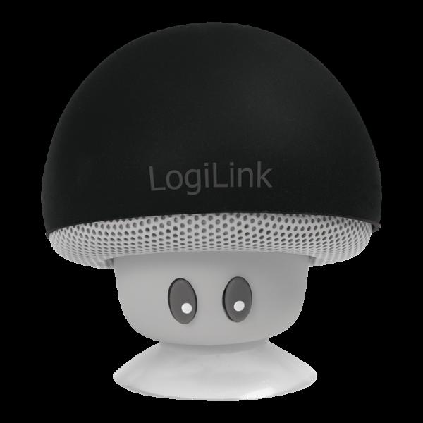 "Mobiler Bluetooth Lautsprecher, ""Mushroom""-Design, schwarz"