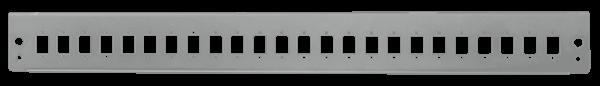 """Frontblende 24x LC-Duplex o. SC-Simplex für 19"""" Spleißbox, lichtgrau"""